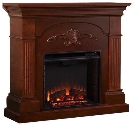 Pemberly Row Electric Fireplace, Mahogany