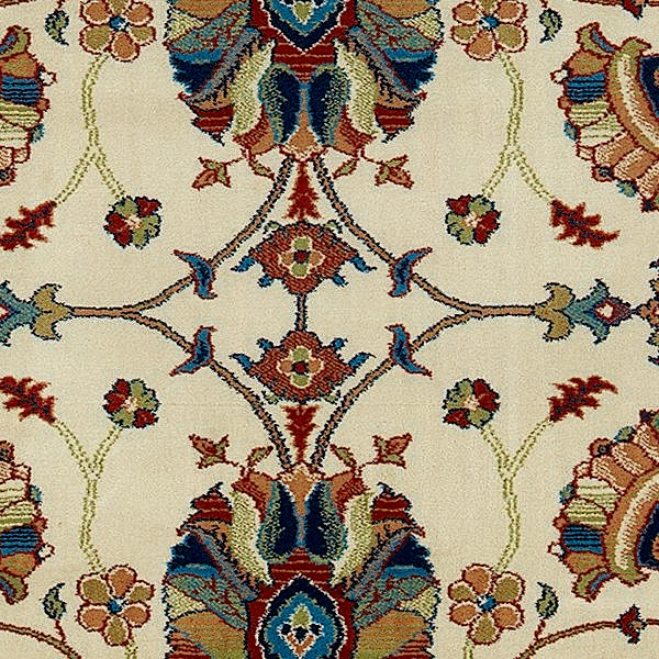 """Ariana Ivory Red Floral Traditional Rug, 6'7""""x9'6"""""""