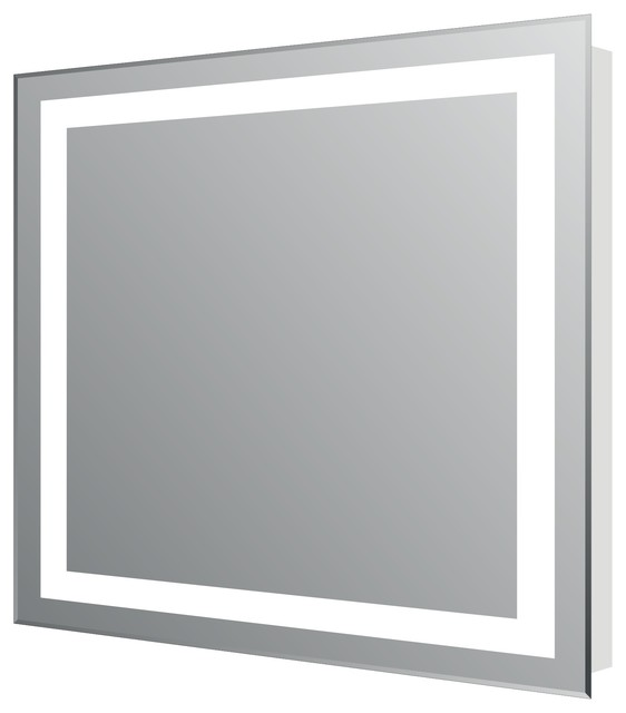 Eviva Lite Wall Mounted Backlit Lighted LED Mirror Contemporary Bathroom Mirrors