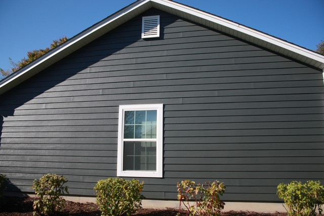 gray hardieplank lap siding modern siding and stone
