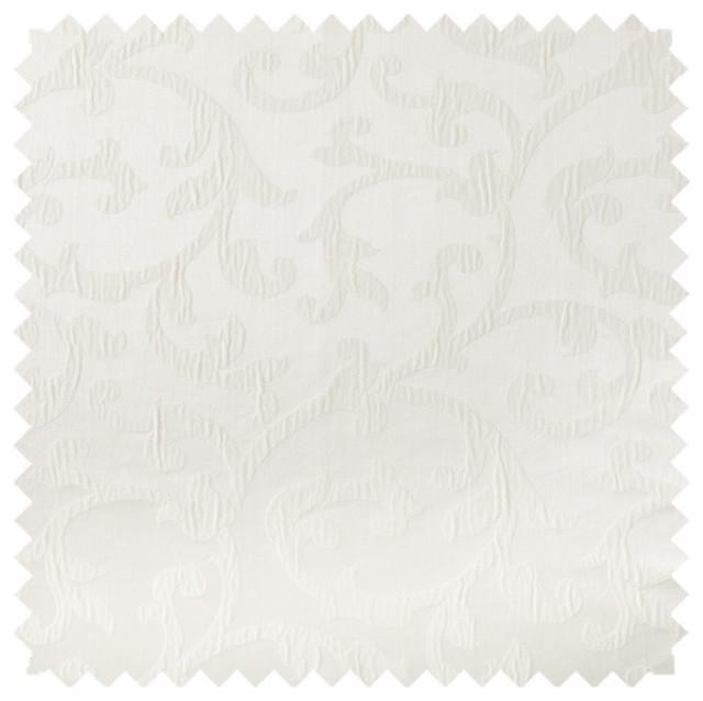 Deluxe Roman Shades Plain Fold, 28wx94h Bermuda White.