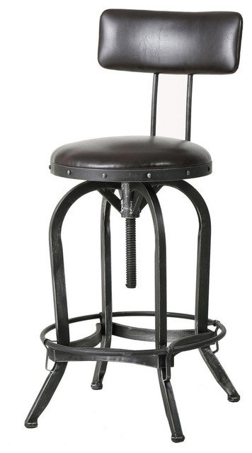Amazing Gdf Studio Samthorn Metal Industrial Barstool With Backrest Ncnpc Chair Design For Home Ncnpcorg