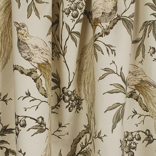 Roberta Winter Fl Bird Grey Fabric