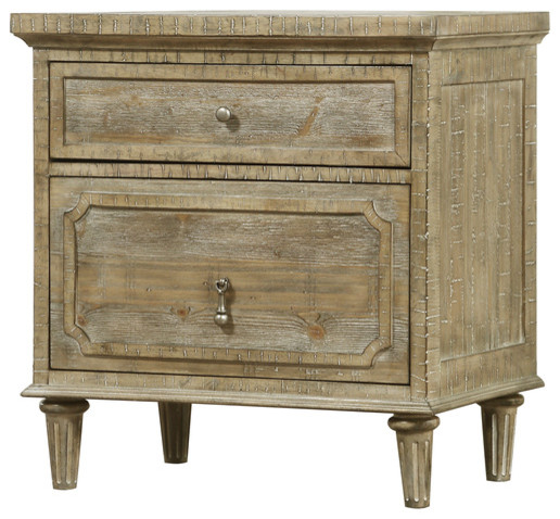 Jerome 2-Drawer Nightstand. -1