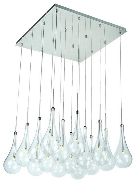 Et2 Lighting Larmes 16-Light Led Pendant, Polished Chrome - E20517-18pc.