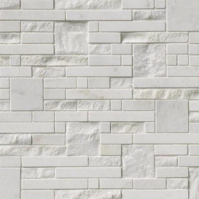 "12""x12"" Greecian White Opus Pattern Greecian White, Set of 10"