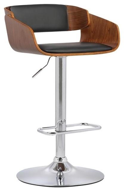 Wondrous Jenny Adjustable Swivel Barstool Chrome Finish With Black Faux Leather Lamtechconsult Wood Chair Design Ideas Lamtechconsultcom