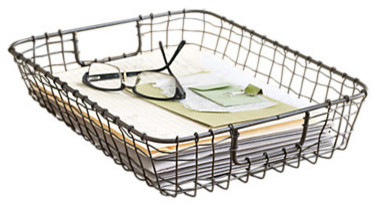 cabo letter basket contemporary desk accessories