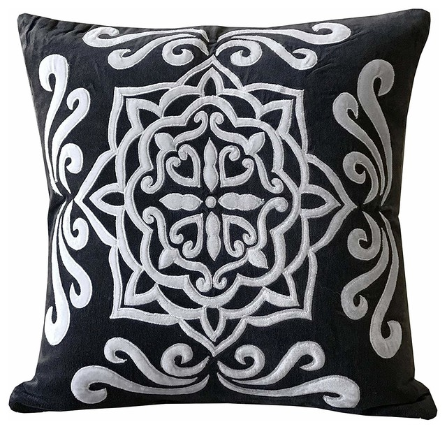 Gray Throw Pillows Charcoal Pillow Grey Throw Pillows Gray Pillow Covers Grey Pillows Grey Pillow Cover Grey Velvet Throw Pillow Cover