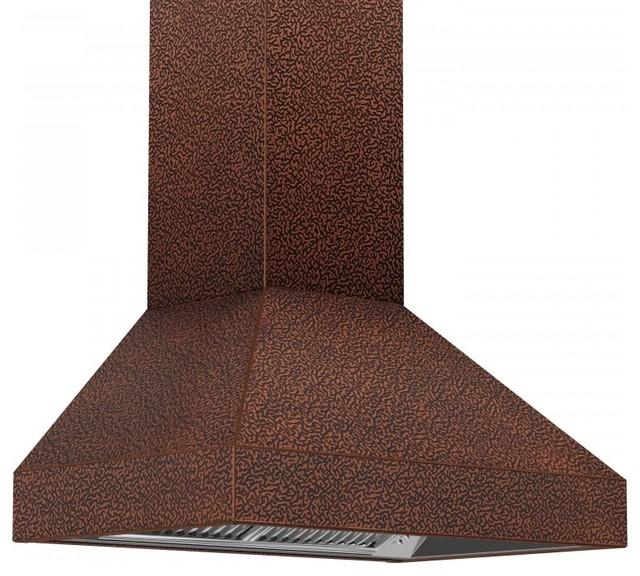 "Zline 8667e-30 Designer Copper Wall Range Hood With Crown Molding, 30""."
