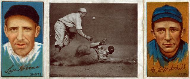 New York Giants Leon Amesm F Mitchell Baseball Card Print 9x12