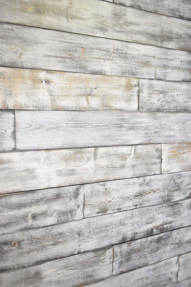 Shiplap Wood Wall Weathered White Gray