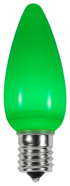 Green Smooth Led C9 Christmas Light Bulbs - Pack Of 25.