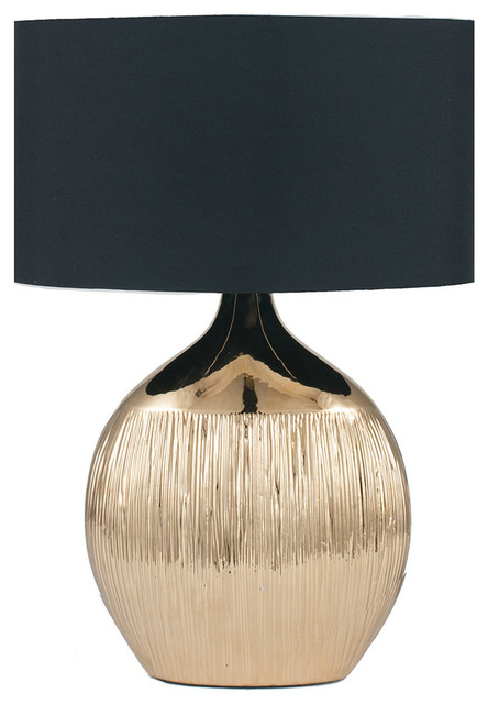 Gemini Table Lamp, Gold Finish