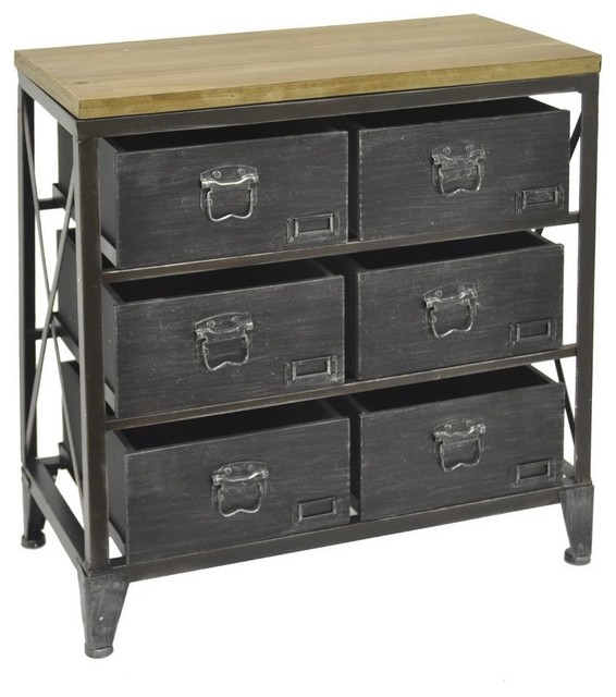 Benzara, Woodland Imports, The Urban Port Benzara 42292 Chic Wood Metal Cabinet - Storage ...
