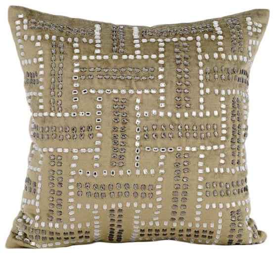 Sage Green Enigma Velvet Throw Pillow Covers