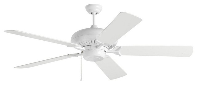 "Grand Prix -60"" Ceiling Fan, White."