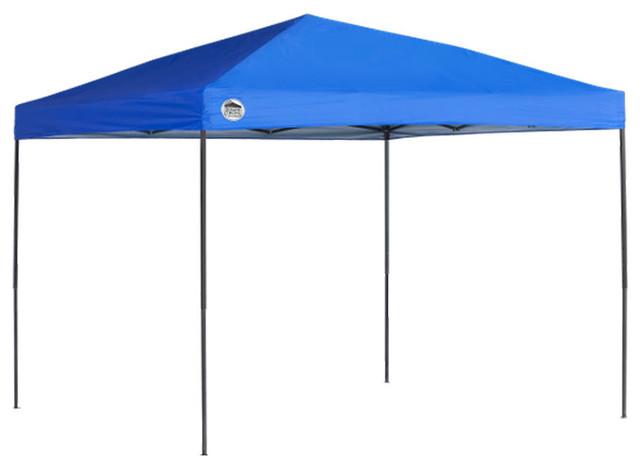 Quik Shade Tech 10&x27;x10&x27; Straight Leg Canopy, Blue Cover, Black Frame.