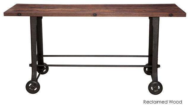 V17 Bar Table, Reclaimed Wood Top