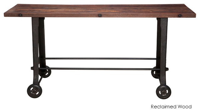 Nuevo Living V17 Bar Table Reclaimed Wood Top View In