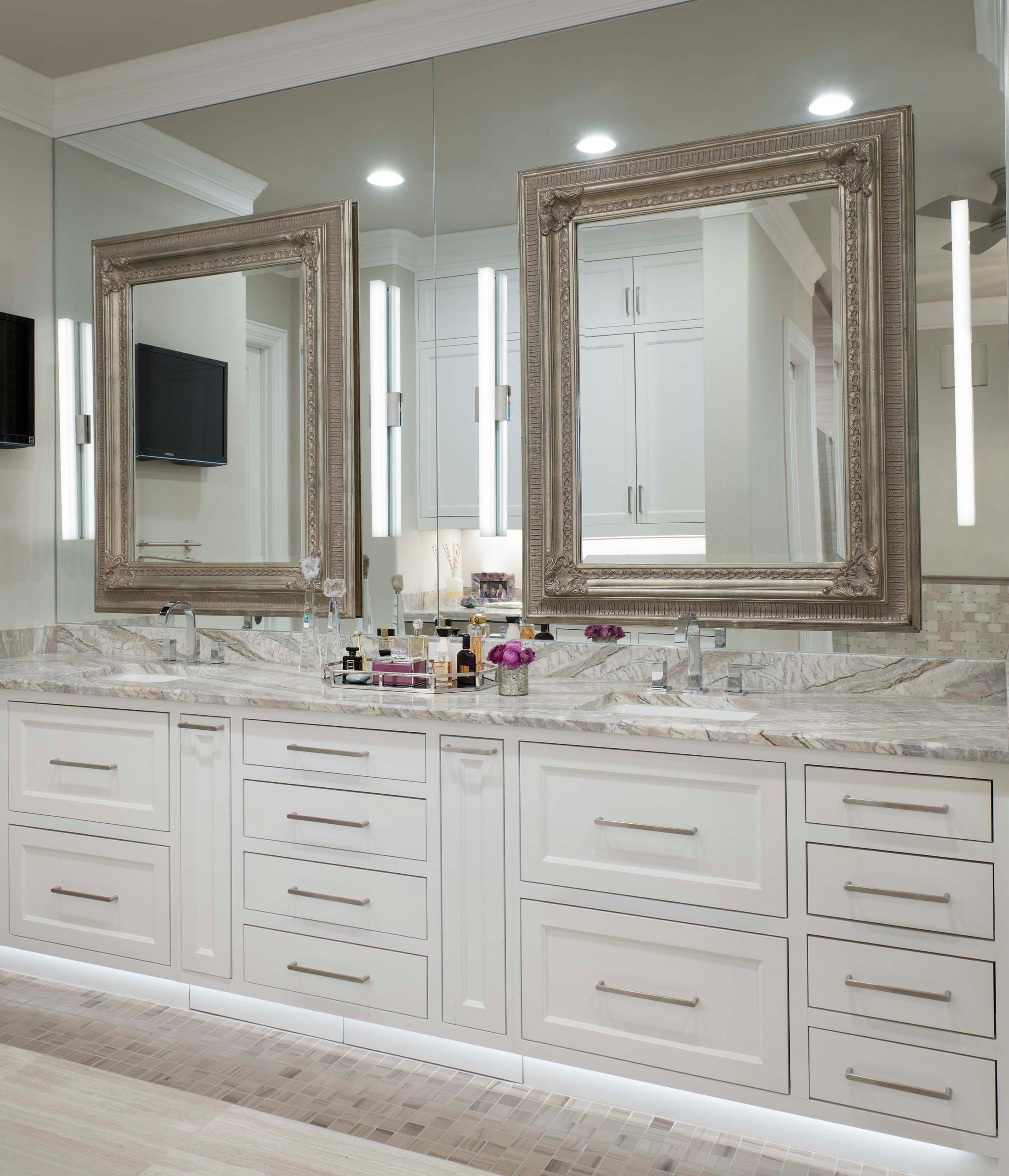 Modern Mediterranean Master Bath Vanity