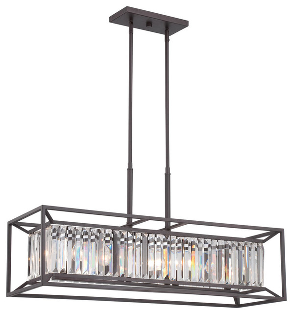 Linares Crystal Accents 4 Light + Four Light Linear