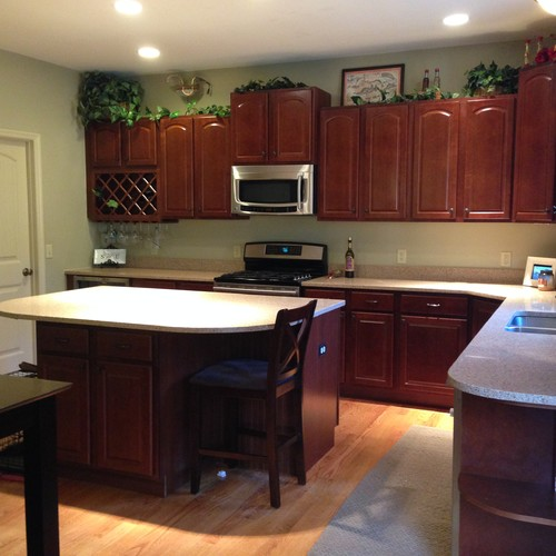 Kitchen Cabinet Paint Colors Cream: Paint Cabinets Cream To Match Trim?