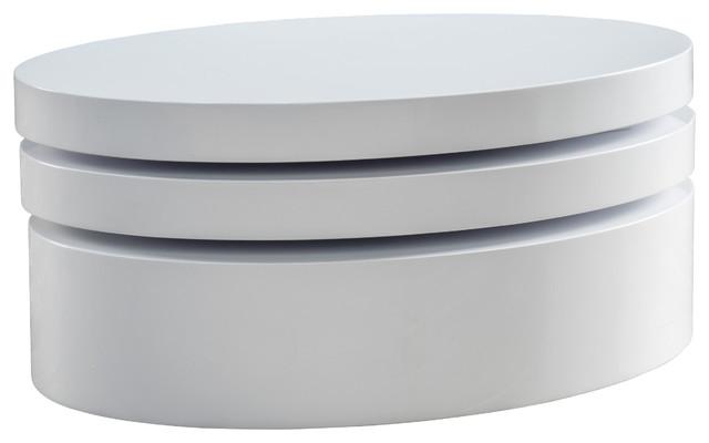 Kendall Oval Mod Swivel Coffee Table Contemporary Coffee Tables - Kendall coffee table