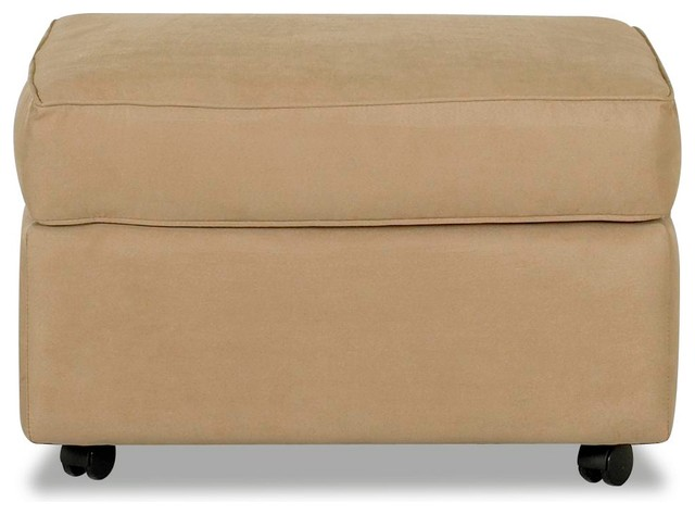 ottoman microsuede camel transitional footstools and ottomans