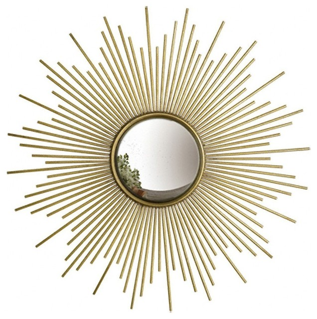 Sunburst Wall Mirror two's company sunburst antiqued gold wall mirror - wall mirrors