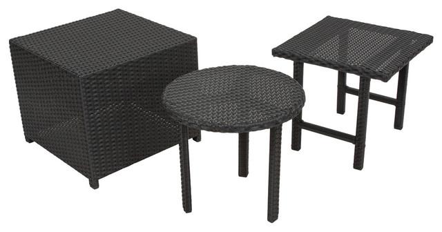 Laguna Outdoor Wicker Table 3 Piece Set