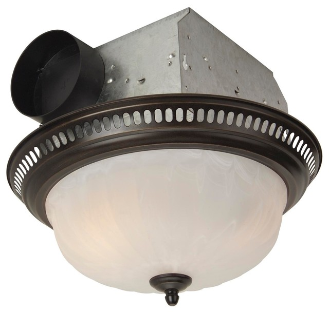 Craftmade Oil Rubbed Bronze Bathroom Ventilation With 2 Light 60W