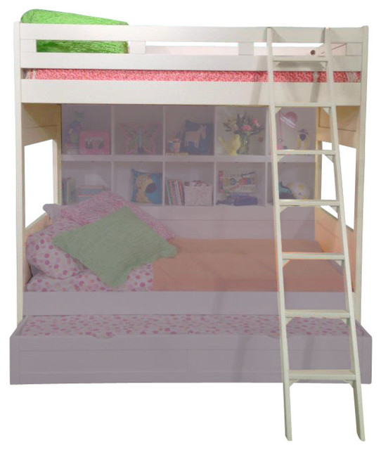 Bunk Bed Solutions american woodcrafters smart solutions full bunk bed - contemporary