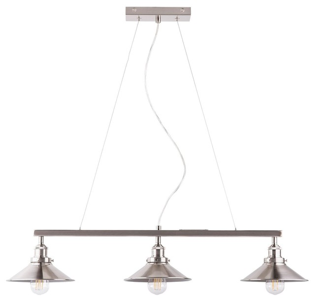 Andante Three Light Hanging Island Light Brushed Nickel
