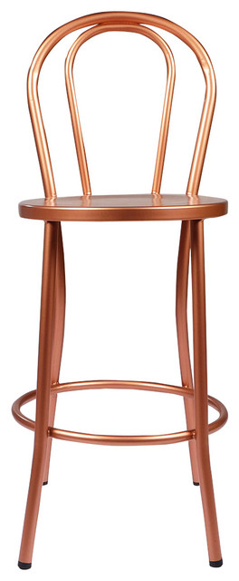 copper french bistro counter stool with back