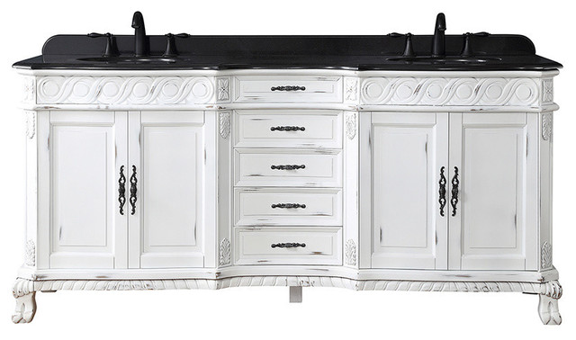 Antique White Double Sink Vanity