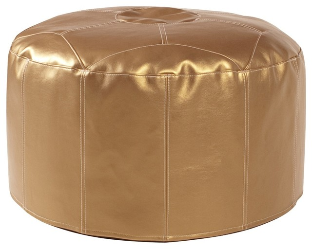 shimmer gold foot pouf ottoman modern footstools and ottomans by fratantoni lifestyles