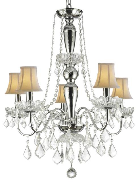 Swarovski Crystal Trimmed Elegant Crystal Chandelier With