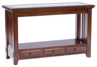 Broyhill Vantana Sofa Table Craftsman Console Tables by