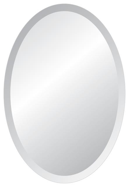 "Mya Oval Mirror, 22""x30"". -1"