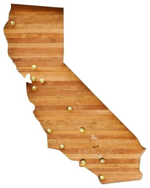 "California Reclaimed Wood Marquee Light, 36""x20"""