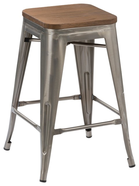 Hobbins Stools Set of 4 industrial-bar-stools-and-counter-  sc 1 st  Houzz : stackable kitchen stools - islam-shia.org