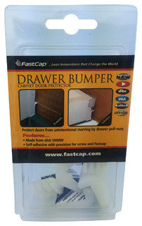 FastCap 10-Pack Drawer Bumpers for Roll-Out//Pull-Out Drawers