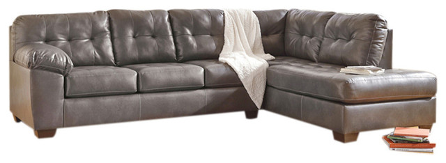 Flash Furniture Durablend Right Facing Sectional, Gray.