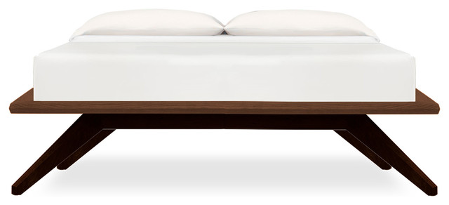 Astrid Platform Bed Without Headboard Midcentury Platform Beds