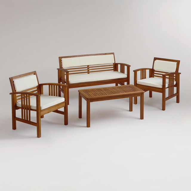 4 piece belize occasional furniture set contemporary for 4 piece living room furniture
