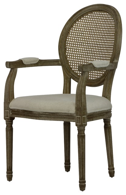 Awesome Louis Beige Cane Dining Arm Chair Set Of 2 Ncnpc Chair Design For Home Ncnpcorg