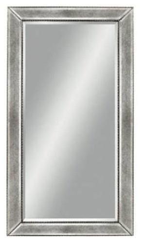 Beaded Wall Mirror, Slate by BASSETT MIRROR CO.