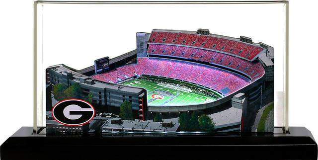 Georgia Bulldogs Sanford Stadium Jumbo With Display Case