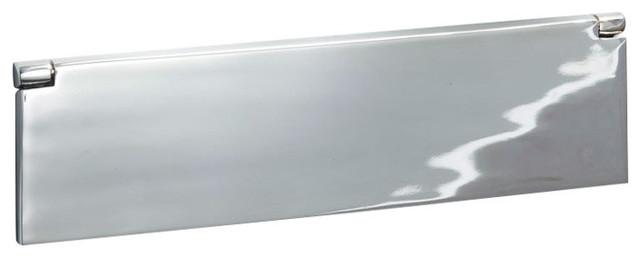 Internal Letter Box Flap, 300mm, Polished Chrome